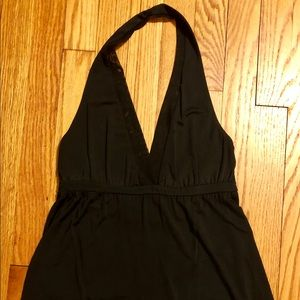 Theory Small Black Halter Top